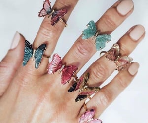 butterfly, fashion, and nails image