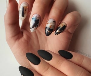 beauty, black, and nails image