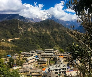 nepal, hills, and view image