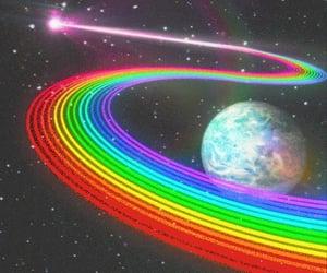 aesthetic and rainbow image