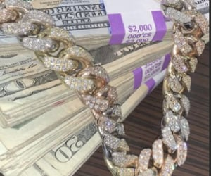 bling, chains, and money image