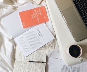 bed, coffee, and study image
