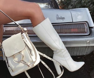 dodge, white aesthetic, and white purse image