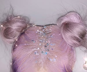 aesthetic, buns, and glitter image