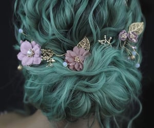 beautiful, beauty, and colored hair image