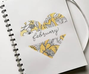 yellow, february, and heart image