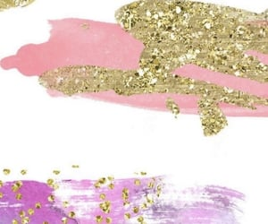 fashion, gold, and pink image
