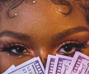 aesthetic, makeup, and money image