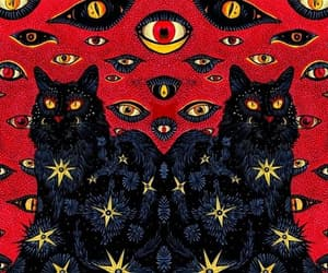 art and black cat image