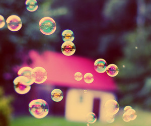 bubbles, photography, and pink image
