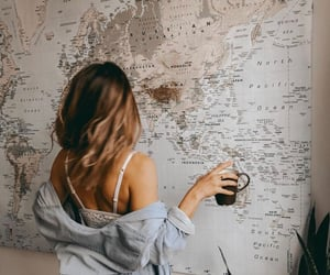 coffee, traveling, and girl image
