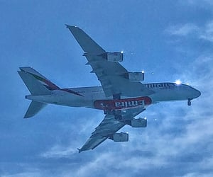 A380, airplane, and summer image
