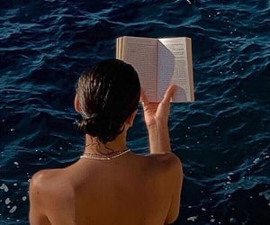 book, summer, and girl image