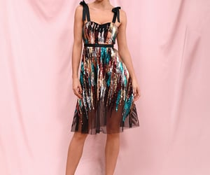party dress, sequin, and party outfit image