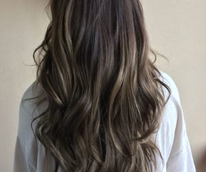brunette and hair beautiful healthy image