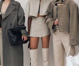 fashion, beige, and grey image