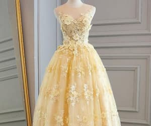 dresses, evening gown, and Prom image