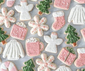 christmas and christmas cookies image
