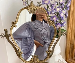 mirror, fashion, and flowers image