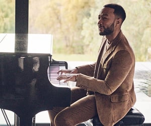 john legend, celebrity, and piano image
