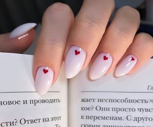 nails, beauty, and book image