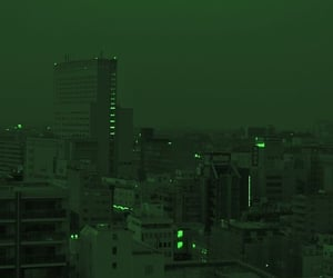 city, green, and aesthetic image