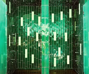 green, spa, and Tiled image