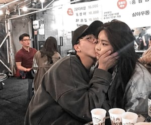 couple, ulzzang, and kiss image
