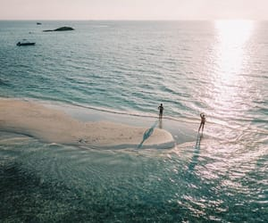 Maldives, ocean, and people image