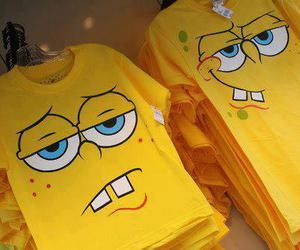 t-shirt, sponge bob, and spongebob image