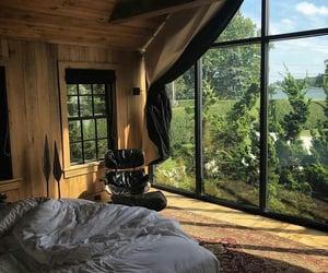 big window, summer, and interior image