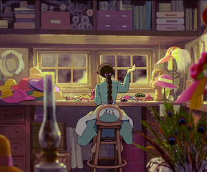 howl's moving castle, anime, and gif image