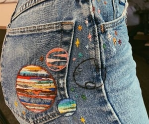 jeans, planets, and fashion image