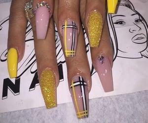 art, long nails, and pink nails image