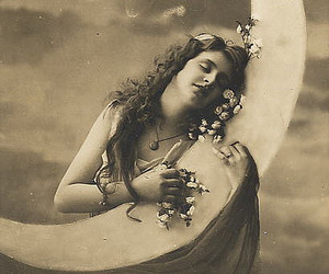 moon and vintage image