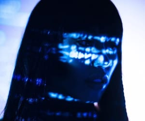 aesthetic, blue, and cyber image