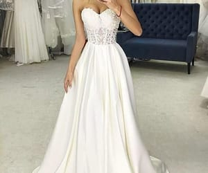 wedding gowns, satin wedding dresses, and cheap bridal dresses image