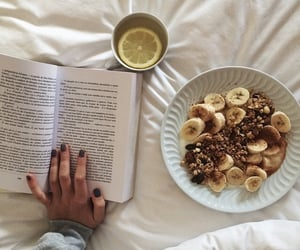 book, food, and reading image