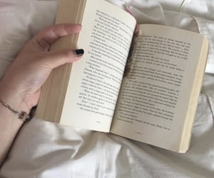 aesthetic, black nail, and book image