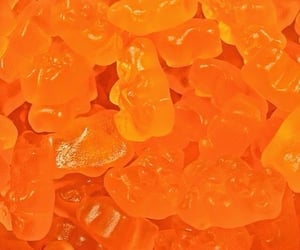 orange, aesthetic, and gummy image
