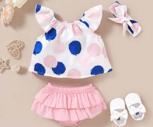 baby clothes, pretty clothes, and summer outwear image