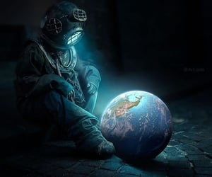 earth, world, and love image