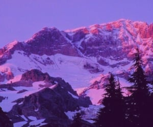 purple, aesthetic, and mountains image