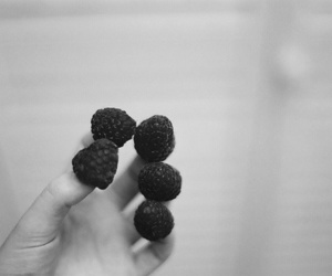 raspberry, hand, and fingers image