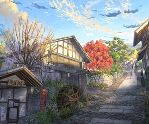 aesthetic, anime, and Houses image