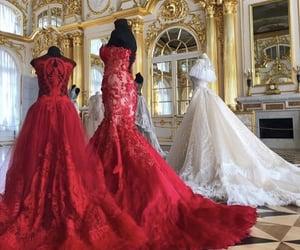 art, dress, and dresses image
