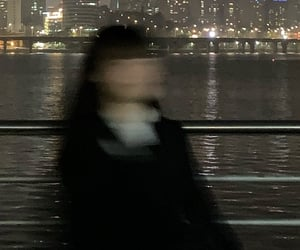 black, blur, and girl image