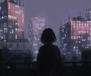 alone, new york, and anime image