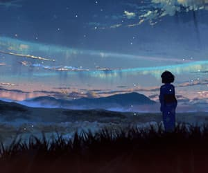 alone, anime, and earth image