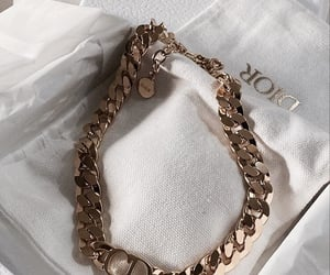 dior, gold, and jewelry image